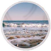 Water Walker Round Beach Towel