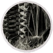 Water Wheel 3 Round Beach Towel