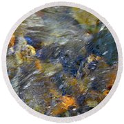 Water Whimsy 173 Round Beach Towel