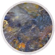 Water Whimsy 175 Round Beach Towel