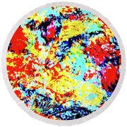Water Whimsy 180 Round Beach Towel