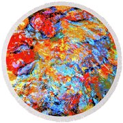 Water Whimsy 183 Round Beach Towel