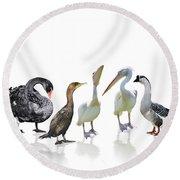 Waterbirds Round Beach Towel