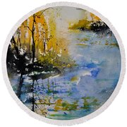 Watercolor 010101 Round Beach Towel