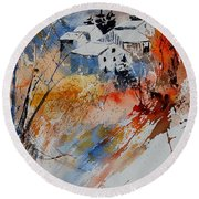 Watercolor  011012 Round Beach Towel