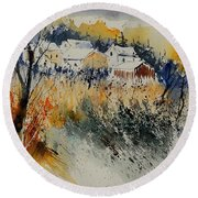 Watercolor  011071 Round Beach Towel