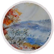 Watercolor  012060 Round Beach Towel