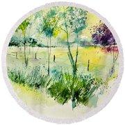 Watercolor 014052 Round Beach Towel