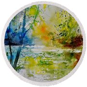 Watercolor 015003 Round Beach Towel
