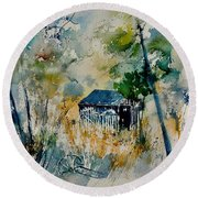 Watercolor 015042 Round Beach Towel