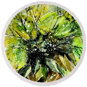 Watercolor 016070 Round Beach Towel