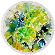 Watercolor 017050 Round Beach Towel