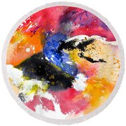 Watercolor 017081 Round Beach Towel