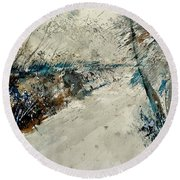 Watercolor 018001 Round Beach Towel