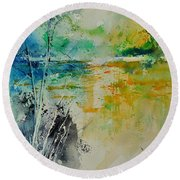 Watercolor 018080 Round Beach Towel
