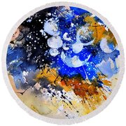Watercolor 111001 Round Beach Towel