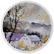 Watercolor 112012 Round Beach Towel