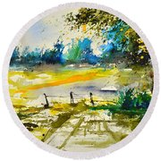 Watercolor 112040 Round Beach Towel