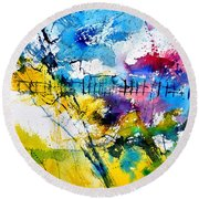 Watercolor 114052 Round Beach Towel