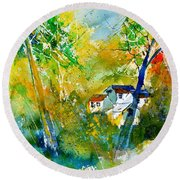 Watercolor 115021 Round Beach Towel