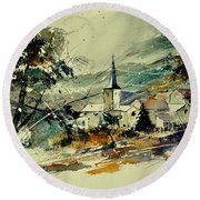 Watercolor 115022 Round Beach Towel