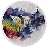 Watercolor 231207 Round Beach Towel