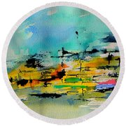 Watercolor 514020 Round Beach Towel