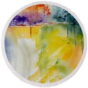 Watercolor 800142 Round Beach Towel