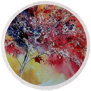 Watercolor 901181 Round Beach Towel