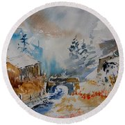 Watercolor  902102 Round Beach Towel