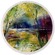 Watercolor  908010 Round Beach Towel