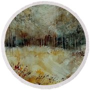 Watercolor 9090722 Round Beach Towel