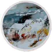 Watercolor  9090723 Round Beach Towel