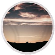 Watercolor Clouds. Round Beach Towel