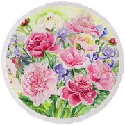 Watercolor Series 153 Round Beach Towel