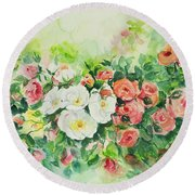 Watercolor Series 4 Round Beach Towel