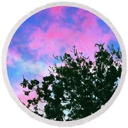 Watercolor Sky Round Beach Towel