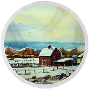 Watercolor_3501 Round Beach Towel