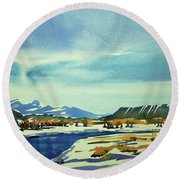 Watercolor3798 Round Beach Towel