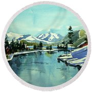 Watercolor4215 Round Beach Towel