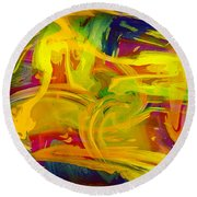 Watercolour Abstract Round Beach Towel