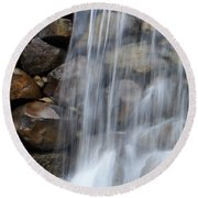 Waterfall 1 Round Beach Towel