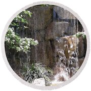 Waterfall 13 Round Beach Towel