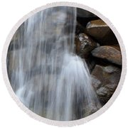 Waterfall 2 Round Beach Towel