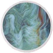 Waterfall Angel Round Beach Towel