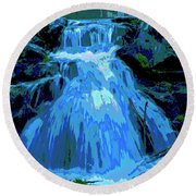 Waterfall At Finch 2 Round Beach Towel