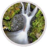 Waterfall Atop Wolf Creek Pass - Colorado - Nature Round Beach Towel