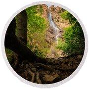 Waterfall Canyon Round Beach Towel