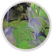 Waterfall Details Round Beach Towel