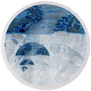 Waterfall In The Moon Round Beach Towel